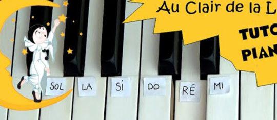 AU CLAIR DE LA LUNE  au piano